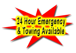 24 HOUR EMERGENCY & TOWING AVAILABLE